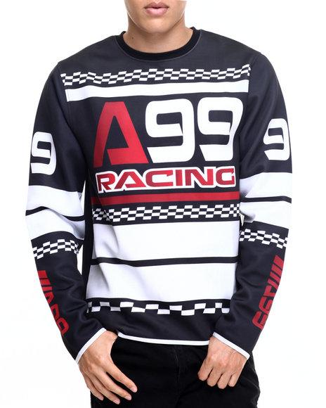 Akademiks Men Charger Ponte L/S Shirt Black Large