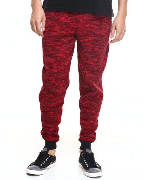 Akademiks Men Fly Knit Jogger Sweatpants Red XX-Large