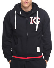 Men - K G Logo Fleece Zip - Up Hoodie
