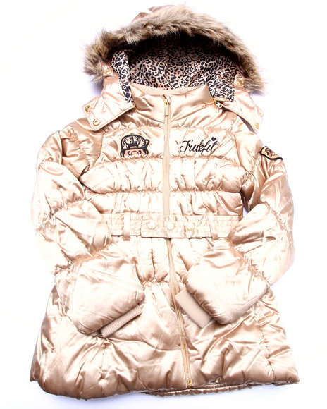 Trukfit Girls Trukfit Puffer Jacket (716) Gold 16 (XL)