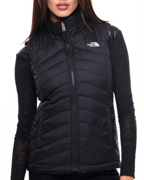 The North Face - Women Black Women's Mossbud Swirl Reversible Vest