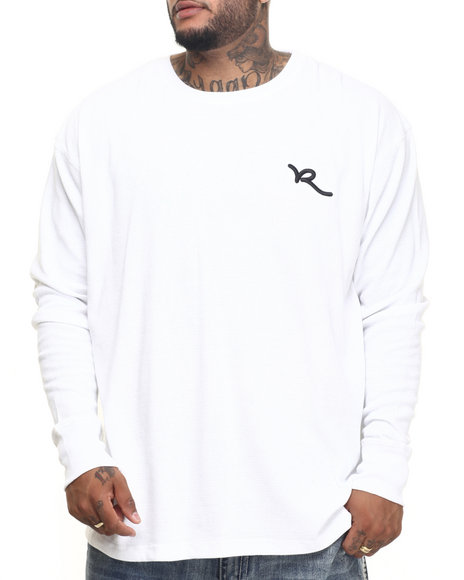 Rocawear - Men White Script Solid Thermal (B&T)