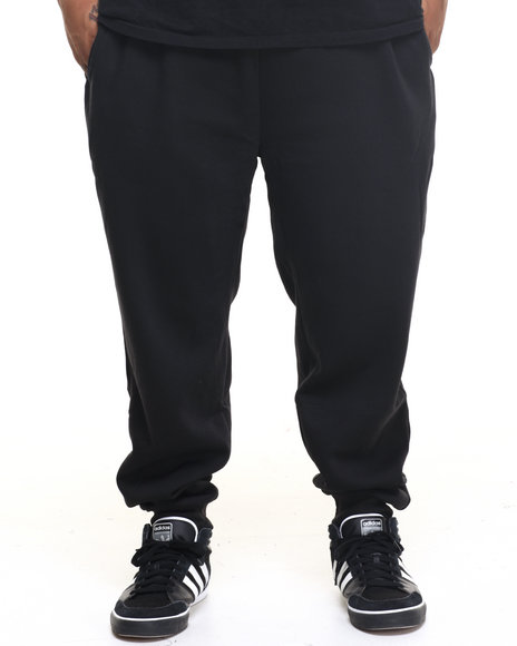 Basic Essentials - Men Black Fleece Jogger Pants (B+T)
