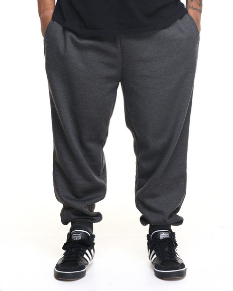 Basic Essentials - Men Charcoal Fleece Jogger Pants