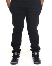 Basic Essentials - Fleece Jogger Pants w/ Contrast Trim (B+T)