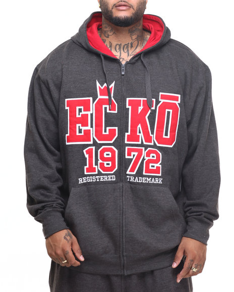 Ecko - Men Charcoal Crown Zip Hoody (B&T)