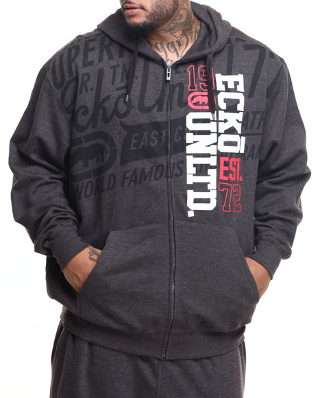 Ecko - Men Charcoal Roadie Zip Hoody (B&T)
