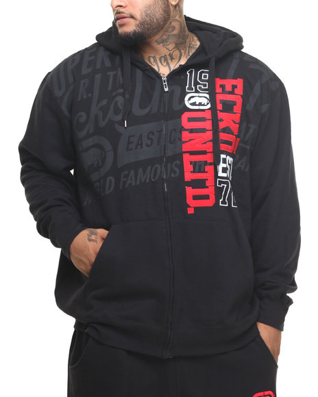 Ecko - Men Black Roadie Zip Hoody (B&T)