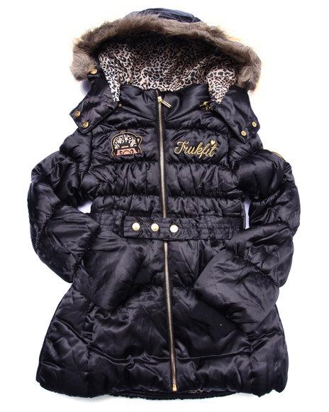 Trukfit Girls Trukfit Puffer Jacket (716) Black 16 (XL)