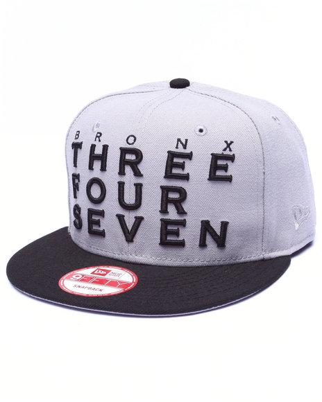 New Era Men Nyc Borough Bronx Area Code Custom 9Fifty Snapback Cap Grey