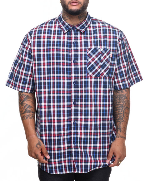 Ecko - Men Navy Barington S/S Button-Down (B&T)