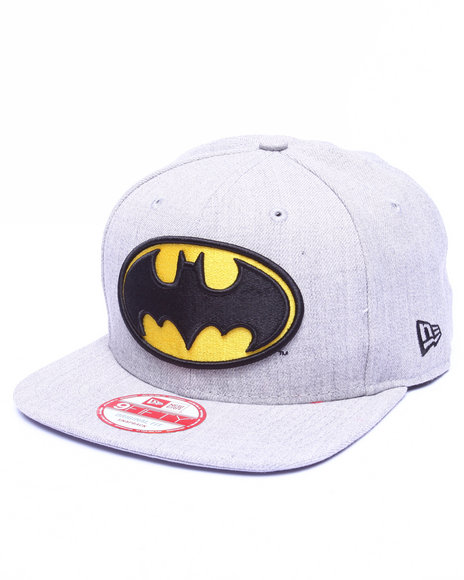 New Era Men Batman Dc Comics Hero Heather 950 Snapback Hat Blue