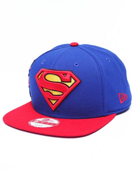 New Era Men Superman Dc Comics Hero Sider 950 Snapback Hat Blue