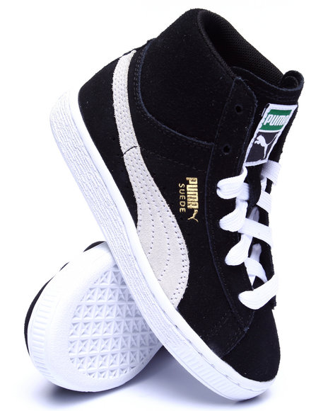 Puma - Boys Black Suede Classic Mid Jr Sneakers (11-7)