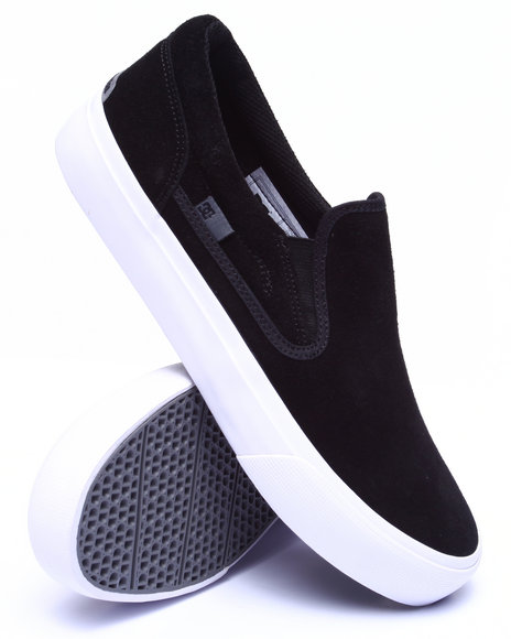 Dc Shoes - Men Black Trase Slip On Sd - Suede