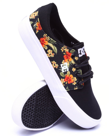 Dc Shoes - Men Black Trase Sp - Floral Print