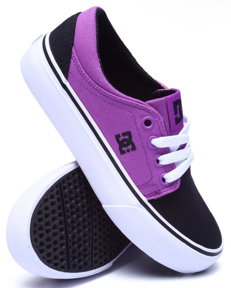 Dc Shoes - Girls Purple Trase Tx Sneaker (1-3)