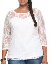 Black Friday Shop - Women - LAN LACE TOP (PLUS)
