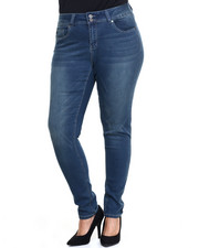 Bottoms - Chloe Curvy Mid Rise Double Button Skinny Jean (Plus)