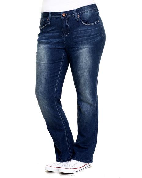 Hydraulic - Women Blue Gramercy Straight Leg Jean (Plus)
