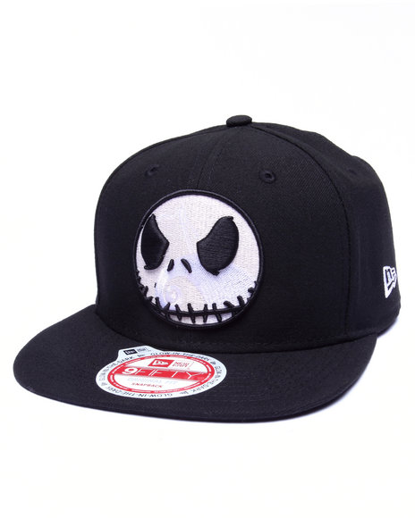 New Era Men The Nightmare Before Christmas Glow Jack 950 Snapback Hat Black