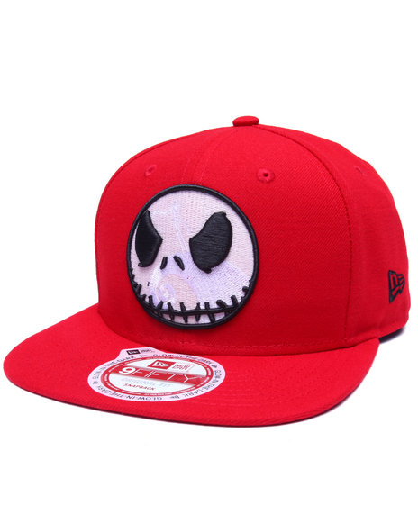 New Era Men The Nightmare Before Christmas Glow Jack 950 Snapback Hat Red