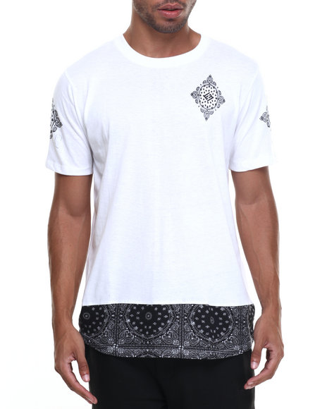 Enyce - Men White Kurupt Long T-Shirt - $9.99