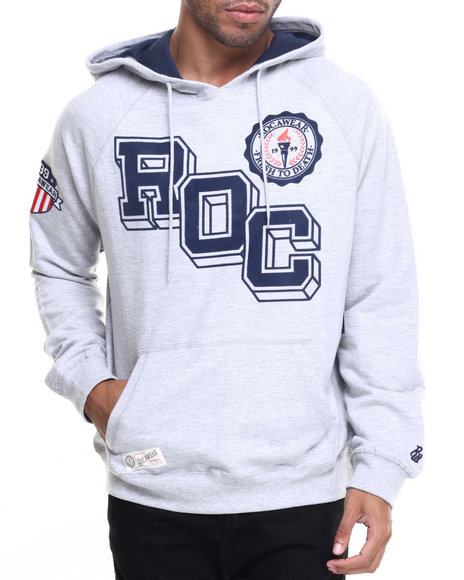Rocawear - Men Grey Roc Block Pullover Hoodie