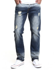 Men - Waverly Green - Cast Destructed Denim Jeans