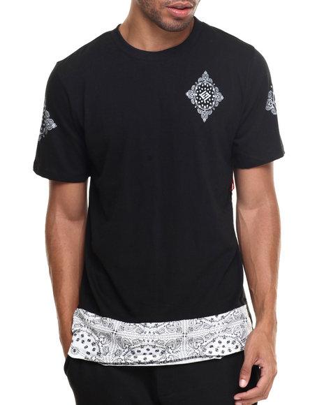 Enyce - Men Black Kurupt Long T-Shirt - $20.99