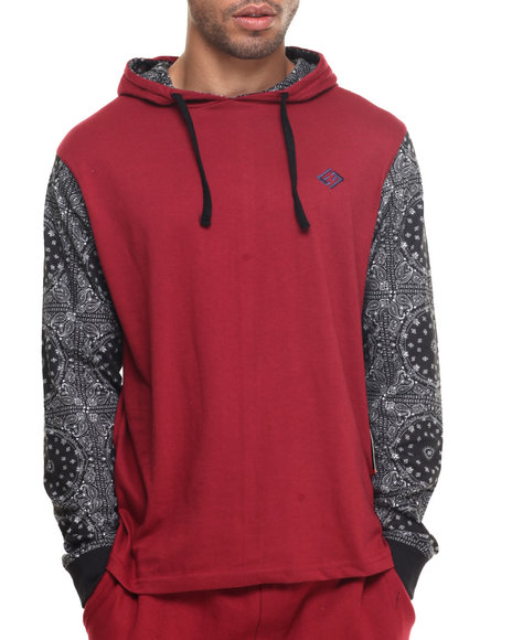 Enyce - Men Red Daz L/S T-Shirt Hoodie