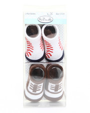 Boys - Sports 2 Pk Booties Set (0-12m)