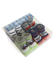 Boys - Transportation 4 Pk Booties (0-12m)