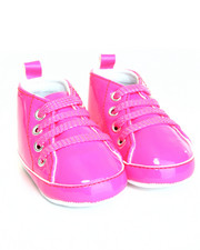 Black Friday Shop - Girls - Patent High Top Lurex Lace Sneaker (0-6m)