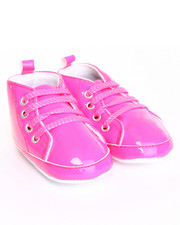 Black Friday Shop - Girls - Patent High Top Lurex Lace Sneaker (9-12m)
