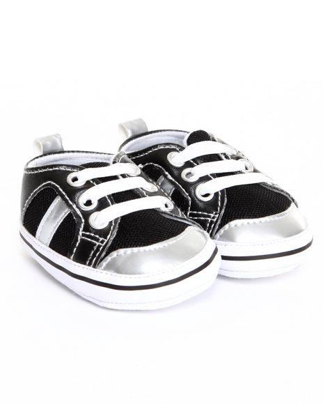 Drj Baby Heaven Shop Boys Cuteness Mesh Sneaker (0-6M) Black 0-6 Mo