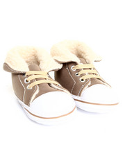 Black Friday Shop - Girls - Sherpa Cuff Faux Suede High Top Sneaker (9-12m)