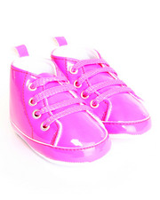 Girls - Patent High Top Lurex Lace Sneaker (6-9m)