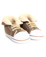 Boys - Sherpa Cuff Faux Suede High Top Sneaker (6-9m)