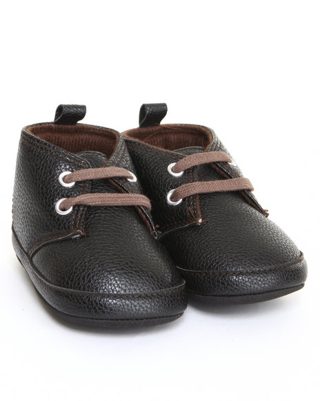 Drj Baby Heaven Shop Boys Pebbled Chukka Booty Sneaker (9-12M) Black 9-12 Mo
