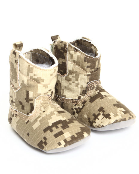 Drj Baby Heaven Shop Girls Camo Canvas Cowboy Boot (9-12M) Camo 9-12 Mo
