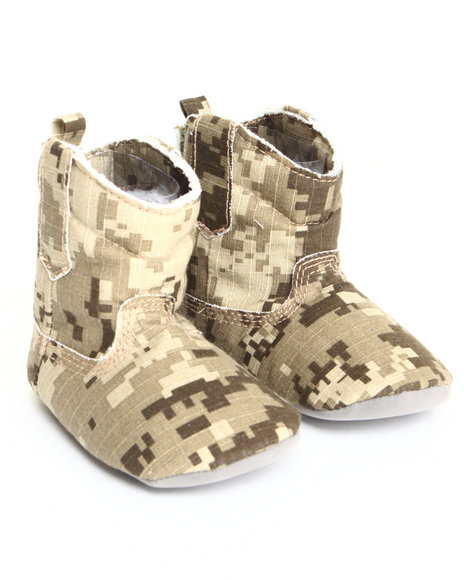 Drj Baby Heaven Shop Girls Camo Canvas Cowboy Boot (6-9M) Camo 6-9 Mo