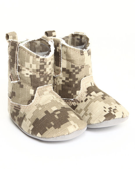 Drj Baby Heaven Shop Girls Camo Canvas Cowboy Boot (0-6M) Camo 0-6 Mo