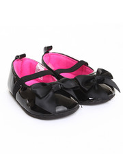 Footwear - Patent Mary Jane Satin Bow Shoe (9-12m)