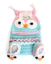 Girls - Crochet Owl Gift Set (0-6m)