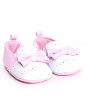 Girls - Pink Pu Smooth w/ Perfs Shoe (0-6m)