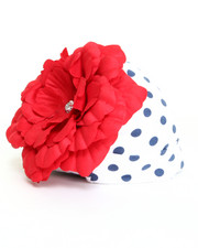 Hats - Flower/Dot Knit Hat (Infant)