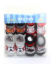 Black Friday Shop - Boys - Sporty Kid 4 Pk Infant Booties (0-12m)