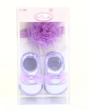 Girls - Ballet Organze Rose Headband/Bootie Gift Set (0-12m)