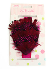 Girls - Feathers Rhinestone Trim Headband